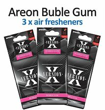 3 x Areon X Version Bubble Gum Scent Car Air Freshener Quality Car Scents