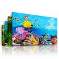 Double Side Aquarium Fish Tank Landscape Poster Backgrounds Film Sticker Decor F