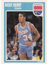 1989-90 Fleer #134 Ricky Berry Sacramento Kings