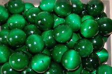 Set 10 Beads Natural Wooden Diameter 30 mm. In Green Colour