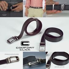 COMFORT CLICK Leather Belt Men Automatic Adjustable Brown As Seen On TV US#
