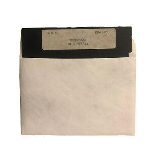 Moon Base Vintage PC 5.25 Floppy Install Disk 1990's G.C.S. EGA145