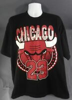 CHICAGO BULLS #23 Jordan vintage Pro Tag NBA t shirt XXL, black, USA made