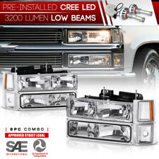 """Built-In LED Low Beam"" 94-98 Chevy Silverado Suburban Tahoe CK Signal Headlight"