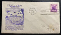 1938 Marietta OH USA First Day Cover FDC North West Territory Sc#837 C