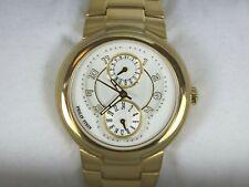 Men's Philip Stein 31-AGW-GSS Active 18K Yellow Gold Stainless Steel Wristwatch