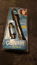 """Conair 2-in-1 Hot Air 1-1/2"""" Curling Brush and 1"""" Bristle Brush"""