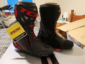 TCX RT-Race Motorcycle Boots - Black/Red