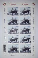 MONACO 10 timbres planche 2017 yacht de prestige et navire, bateau LE YERSIN