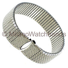 17mm Speidel Stainless Steel Twist-O-Flex Curved Ends Watch Band Regular