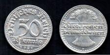 ALLEMAGNE   50 PFENNIG 1921 D   FDC / UNC