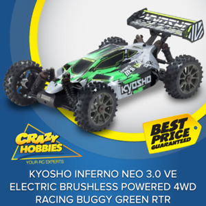 Kyosho INFERNO NEO 3.0 VE Electric Brushless Powered 4WD Racing Buggy Green RTR