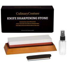Whetstone Knife Sharpening Stone Kit - 2-Sided 1000  6000 Grit Waterstone  