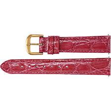 Stuller Ladies Fuchsia EZ Change Genuine Crocodile Padded 12mm Watch Strap Band