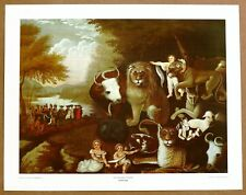 Edward Hicks Peaceable Kingdom Vintage Original 1960 1st Print Ltd Ed Lithograph