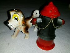 VINTAGE Dog Peeing on Fire Hydrant Salt and Pepper Shakers Japan Import Product