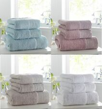 Luxury Towels 100% Combed Cotton With Diamante Band Embellished Detail,Great Buy