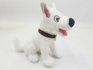 "Disney Paris Bolt 7.5"" Plush Toy Sitting Superhero Dog"