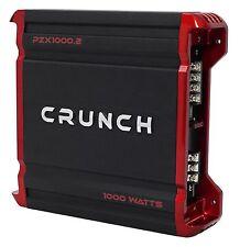 Crunch PZX1000.2 1000 Watt 2 Channel Powerful Car Stereo Amplifier Amp