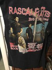 "2009 Rascal Flats ""Bob That Head� Tour T-Shirt Large"
