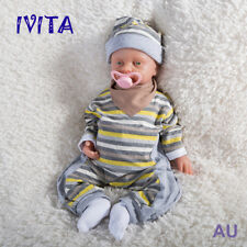 IVITA 18'' Silicone Reborn Baby Realistic Infant Girl Doll Can Take Pacifier