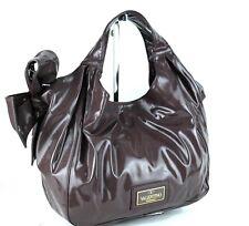 Authentic Valentino Garavani Chocolate Brown PVC Canvas Hand Bag Italy