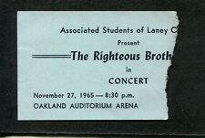 1965 Righteous Brothers concert ticket stub You've Lost That Lovin Feelin