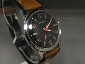 Beautiful Benrus art deco dial 17j manual wind watch, mint cond.