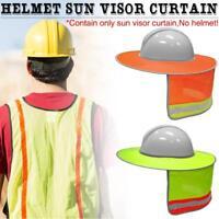 Construction Safety Hard Hat Neck Shield Helmet Sun Shade Reflective Stripe Kit