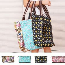 Chic Women Shopping Shoulder Bag Zipper Foldable Handbag Lady Grocery Tote Pouch