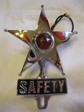 Red Lighted Chrome Safety Star License Topper  Lowrider, Bomber,Hotrod, Ratrod