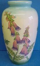 "OLD TUPTON WARE ENGLISH GARDEN PATTERN TUBELINED CERAMIC 11"" TALL VASE 7901"