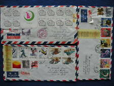 P.R China 1987 Shanghai to US 9 Registered Covers
