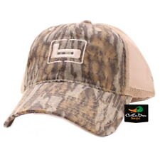 "NEW BANDED GEAR TRUCKER CAP HAT BOTTOMLAND CAMO TAN MESH W/ ""b"" LOGO ADJUSTABLE"