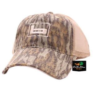 "NEW BANDED GEAR TRUCKER CAP HAT BOTTOMLAND CAMO TAN MESH W/ ""b"" LOGO ADJUSTABLE"