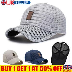 Mesh Breathable Baseball Sports Cap Sun Protection Trucker Summer Hat Women YE