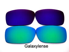 Galaxy Replacement Lenses For Oakley Crankcase Green&Purple Polarized 2 Pairs