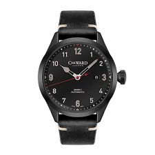 NIB Christopher Ward C8 Flyer PVD Automatic on Strap, 44mm,Swiss Made,10+ Pic
