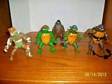 """Vintage lot of  5 """"Teenage Mutant Ninja Turtles"""" #E by Bandai"""