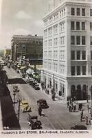 Postcard, Hudson's Bay Store, 8th Ave Calgary Alberta Canada Vintage P31