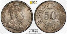 Hong Kong 1905 50 Cents PCGS MS63 rare this grade PC0977