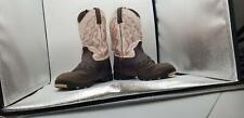 Justin Boots Women's George Strait Waterproof Round Toe Pink Cowhide,9.5 B US