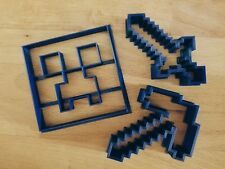 Minecraft cookie cutters set of 3