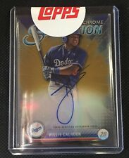 2017 BOWMAN CHROME SENSATION WILLIE CALHOUN GOLD ROOKIE AUTO AUTOGRAPH CARD /50