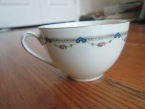 Bone China Tea or Coffee Cup Floral Draped Pattern No Manuf. Name Gold Trim