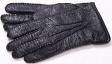 Roeckl Peccary Aufnaht schwarz Damen Leder Handschuhe Schweinsleder gefüttert