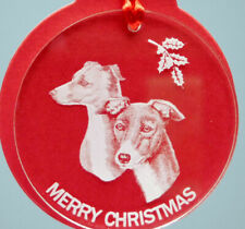 Italian Greyhound Dog Ornament, Lucite,