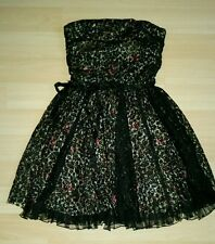 Beautiful lace size 9 party dress!!! floral, lace, black! Made in the USA