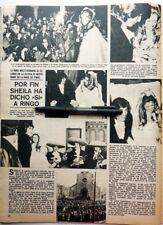Mariage SHEILA-RINGO  => coupure de presse ESPAGNOLE 1973  / CLIPPING RARE !!!