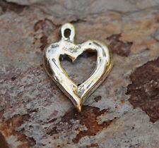 Artisan Handcrafted Sterling Small Open Heart Charm